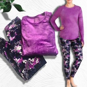 ClimateRight by Cuddl Duds 2pc Pajama Set - Grape